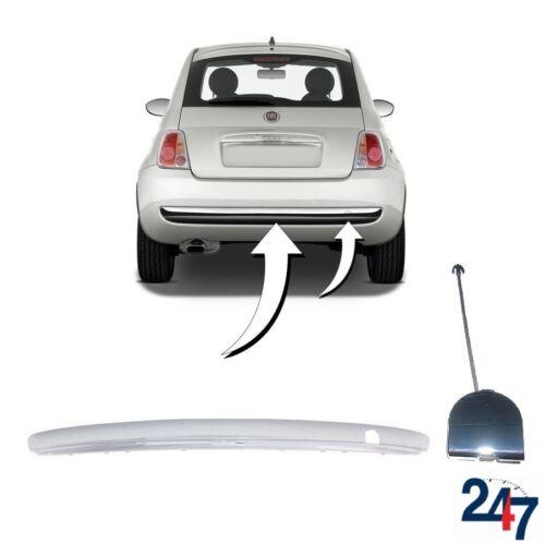 07-15 pare-chocs arrière chrome Molding Trim avec Tow Hook Cover Set 312 Nouvelle Fiat 500