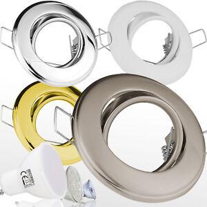 Einbau-Strahler-GU10-GU5-3-Schwenkbar-Einbaurahmen-Einbau-Leuchte-LED-HL750