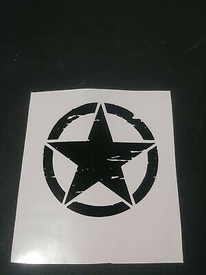 ARMY STAR MILITARY JEEP//AUTOMOTIVE 10 YEAR PREMIUM VINYL DECAL//STICKER 3-22in