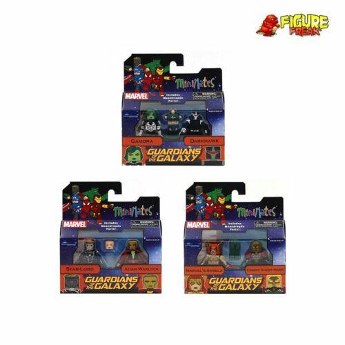 Marvel Minimates série 79 gardiens JEU COMPLET avec MOONDRAGON Build-a-Figure