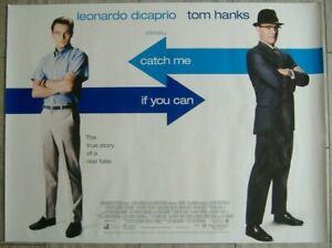 Catch Me If You Can 2002 Original D S Uk Quad Movie Poster Leonardo Dicaprio Ebay