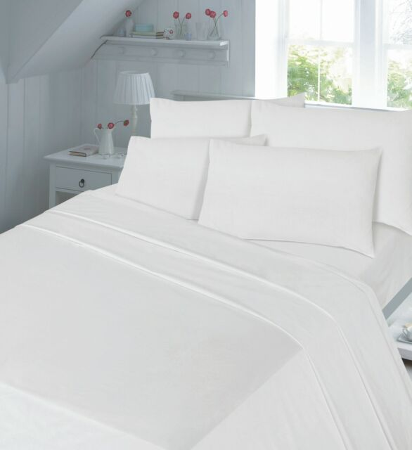 Luxury Non-Iron Percale Fitted,Flat,Valance Sheet Single Double King /& SuperKing