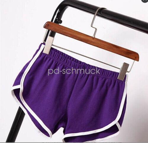 Damen Kurze Sporthose Fitness Sommer Sport Shorts Gym Training Bund Fitness Yoga