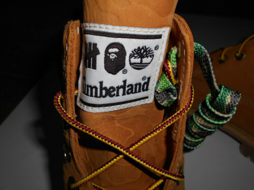 AUTHENTIC APE BAPE x TIMBERLAND x UNDFTD BOOTS NEW RARE US 7.5 9 11 NEW