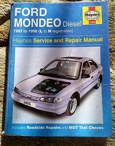 ford mondeo haynes manual diesel 1993 to 1996 l to n registration ebay. Black Bedroom Furniture Sets. Home Design Ideas