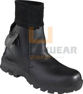 Mens FLAME RESISTANT Leather Weld Foundry Work Safety Toe Cap mid Leg Boots 5-13