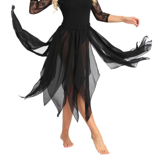 Damen Bauchtanz Kostüm Chiffon Rock Tanz-Kleid Tanzrock Dance Röcke Tanzkleidung