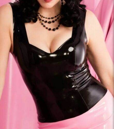 Baroness Latex Marilyn Top Black XS