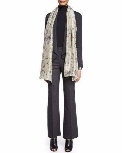 NWT Eileen Fisher Wool Charcoal Boot Cut Trouser Pants Size 8 MSRP  238