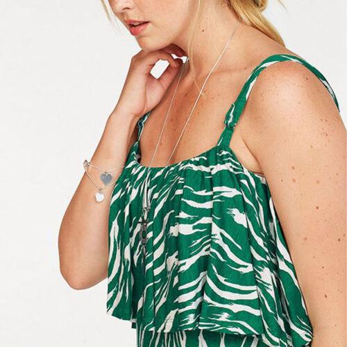 schönes MAXIKLEID Gr.46//48 Maxi Kleid gemustert Shirtkleid grün weiß Sommerkleid