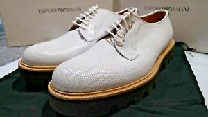 Size Emporio Derby Shoes Honeycomb 11uk Made In Armani Italy 45eu uomo's ww6qAB