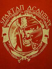 300 Spartan Academy King Leonidas War Warrior Tee Fury Sparta Large Red T-Shirt