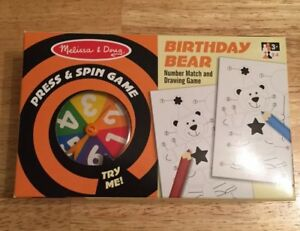 Melissa-amp-Doug-Press-and-Spin-Game-Birthday-Bear-Number-Match-and-Drawing-Game