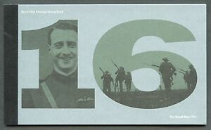 GREAT-BRITAIN-2016-WORLD-WAR-I-COMPLETE-PRESTIGE-BOOKLET-MINT-NEVER-HINGED
