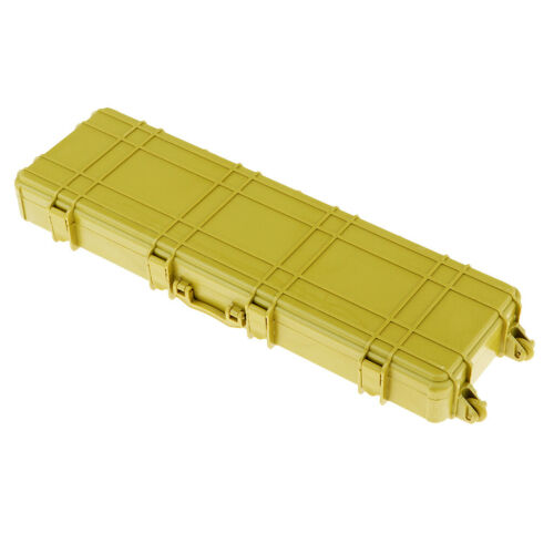 Yellow Plastic Suitcase Luggage Carrier Box for Axial SCX10 D90 TF2 RC Truck