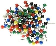 U Brands Map Push Pins Plastic Head Steel Point Assorted Colors 100 Count