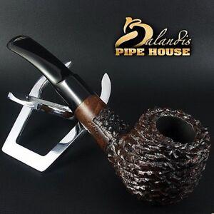 Mr.BALANDIS HAND MADE - Carved & Waxed BRIAR wood smoking pipe * Brother Brad *