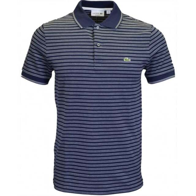 c1e14c5c8a9432 Lacoste PH9099 Regular Fit Navy Stripe Polo