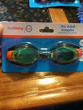 Pro Adult Mens Womens Black Green Swimming Goggles Glasses Pool Adjustable