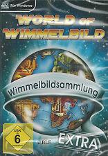 PC CD-ROM + World of Wimmelbild + Wimmelbildsammlung Extra + 4 Spiele + Win 8
