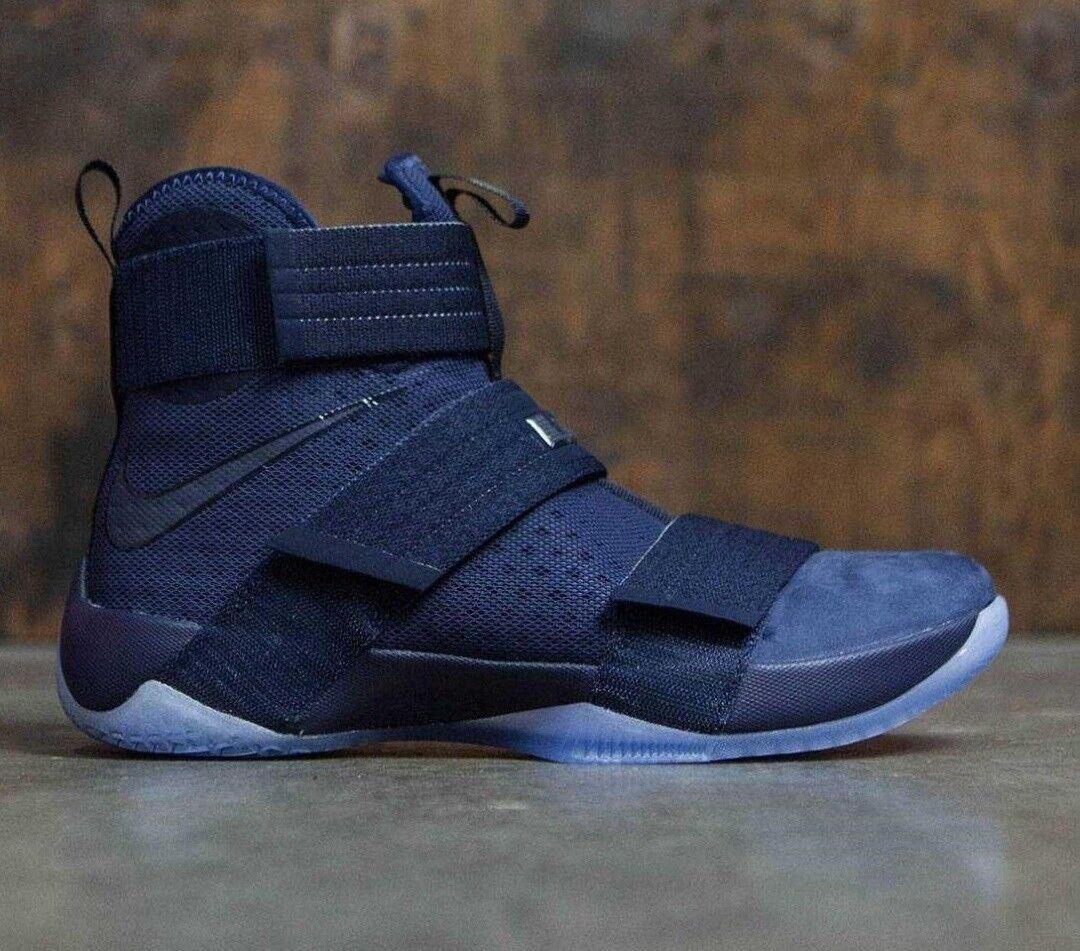 Mens Nike Lebron Soldier 10 X SFG Sneakers New, Midnight blueee 844378-444 sku
