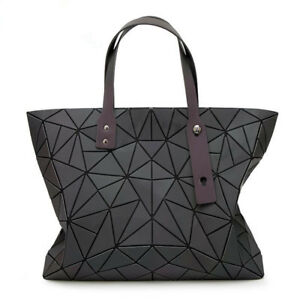a054ff9800fd Image is loading Geometric-Luminous-Women-Handbag-Japan-BAO-Ladies-Shoulder-