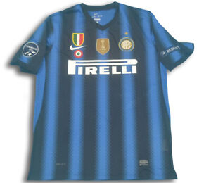 Maglia INTER 2010 2011 maglietta storica triplete patch champions da collezione