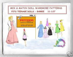 Vintage Mix /& Match for Barbie Fashion Doll  Pattern Vol 1