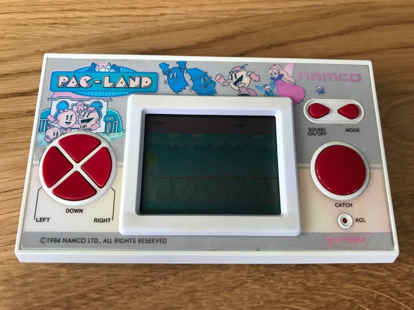 Rare Namco Pac Land 1984 Vintage LCD Handheld Electronic Game.