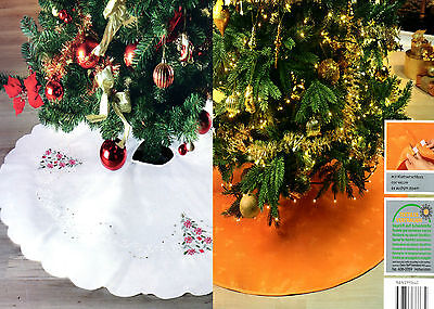 2 x weihnachtsbaum decke 120cm wei orange christbaum. Black Bedroom Furniture Sets. Home Design Ideas