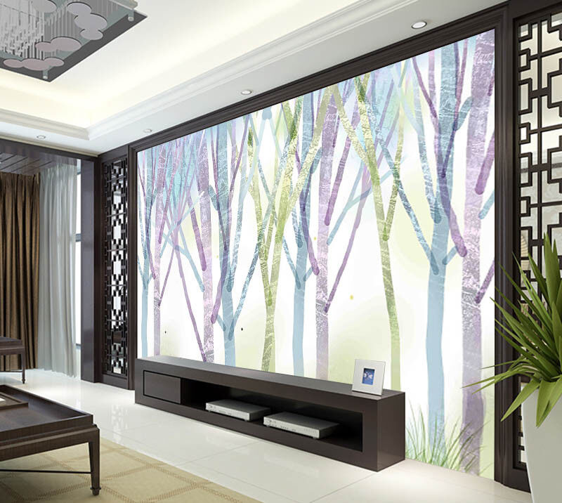 Coloured Drawing  3D Full Wall Mural Photo Wallpaper Printing Home Kids Decor