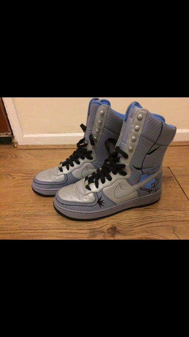 "Nike Air Force 1 Supreme 6"" AF-1 '82 Pebble Grey Metallic Platinum Hi High Top"