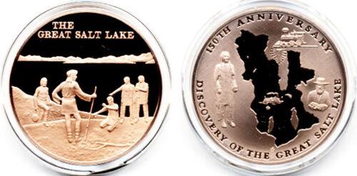 "Jim Bridger Discovers /""The Great Salt Lake/"" Meets Indians Vintage Bronze Medal"