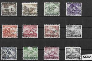 #6602   Third Reich Germany stamp set 1943 Military Hero's Wehrmacht Luftwaffe