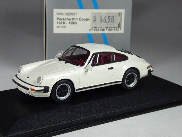 (ki-09-20) minichamps 062021 porsche 911 coupe street 1978 in 1 43 new, rare