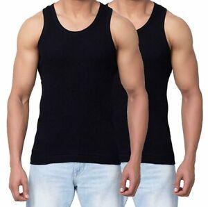 2-X-Chaleco-para-hombre-100-algodon-verano-gimnasio-Costilla-Sin-Mangas-Hombre-Camiseta-sin-mangas