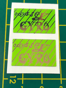 old school bmx decals stickers odyssey gyro cable decals pair black chrome