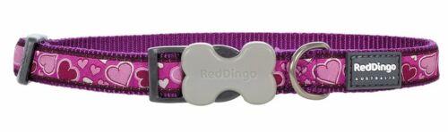 Red Dingo Totalmente Ajustable Perro//Cachorro Collares Breezy amor púrpura