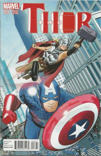 THOR #8 MAYHEW NYC VARIANT COVER MARVEL COMIC BOOK IDENTITY REVEALED NEW 1 2015