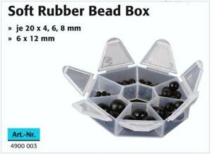 WESTLINE-Soft-Rubber-Beat-Box-Gummi-Perlen-schwarz-Wirbel-Gummi-Kugeln-Sortiment