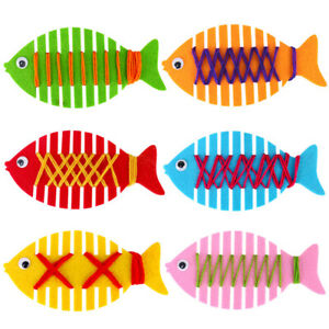 5PCS-FISH-LACING-THREAD-WEAVE-HANDMADE-ACTIVITY-GAME-DIY-KIDS-DEVELOPMENTAL-TOY