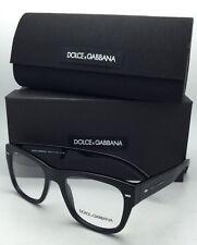 New DOLCE & GABBANA Eyeglasses DG 3195 2820 51-20 Brushed Black on Black Frames