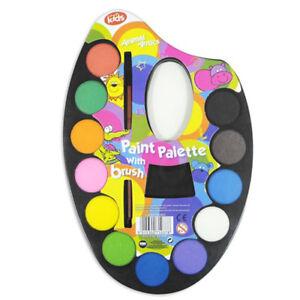Artist-Art-Painting-Paint-Pallet-Pallete-Set-with-Brush-for-Children-School-Kids