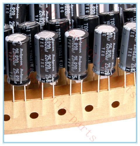 5pcs 820uf 25v Rubycon Radial Electrolytic Capacitor 25v820uf YXG JAPAN