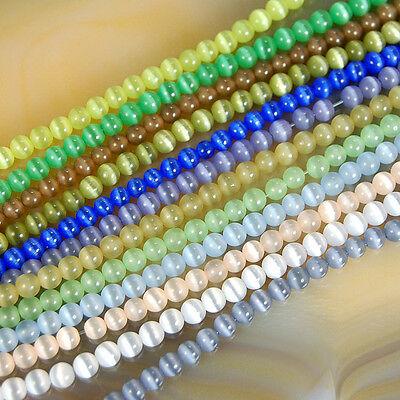 4mm 95pcs Cat Eye Gemstone Round Loose beads