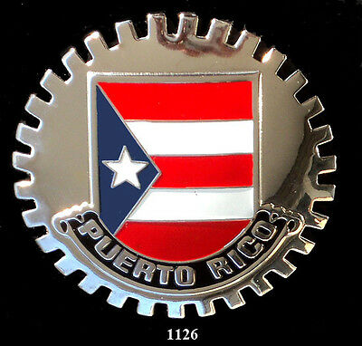 PUERTO RICO CREST CAR GRILLE BADGE EMBLEM