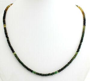 Collana Tormalina Preziose Verdelith Sfaccettato Collier Verde Gradiente Nuovo