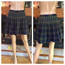 Vintage Gap 90s Pleated Schoolgirl Plaid Micro Mini Tartan Skirt L XL