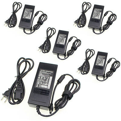 10 x AC 100-240V To 12V 5A DC Adapter Power Supply Charger Cable Cord 5.5x2.1mm