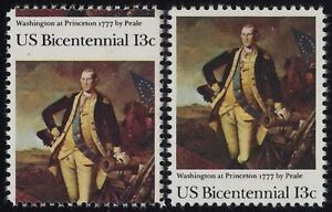 "1704 - Scarce Misperf Error / EFO ""Bicentennial"" ""Washington at Princeton"" MNH"